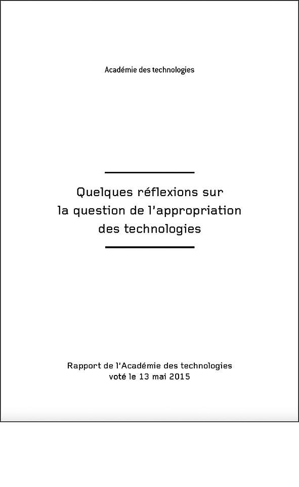 Quelques réflexions sur la question de l'appropriation des technologies