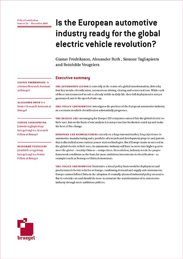 Is the European Automotive Industry Ready for the Global Electric Vehicle Revolution?