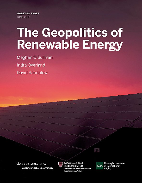 The Geopolitics of Renewable Energy