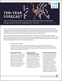 IFTF Annual Ten-year Forecast Conference