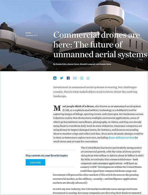 Commercial Drones Are Here: The Future of Unmanned Aerial Systems