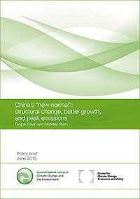 "China's ""New Normal"": Structural Change, Better Growth, and Peak Emissions"